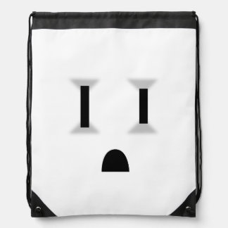Funny Electrical Outlet (No Outline) Drawstring Backpacks