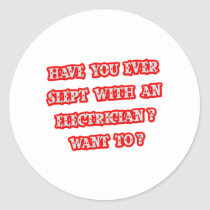 Funny Electrician Pick-Up Line Classic Round Sticker