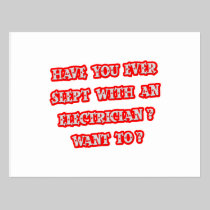Funny Electrician Pick-Up Line Postcard