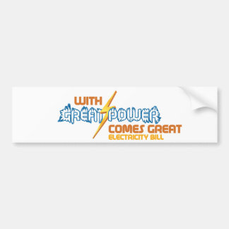 Funny Electricity Bumper Sticker