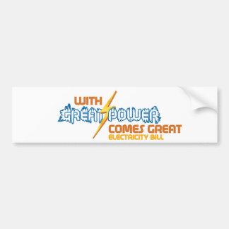 Funny Electricity Bumper Sticker