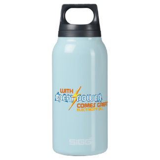 Funny Electricity Insulated Water Bottle