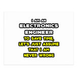 Funny Electronics Engineer T-Shirts and Gifts Post Cards