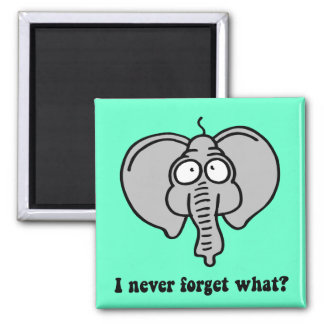 Funny elephant 2 inch square magnet