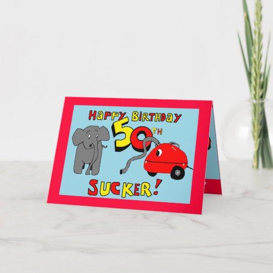 Funny Elephant 50th Birthday Card Zazzle
