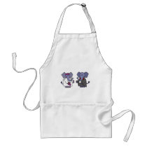 Funny Elephant Bride and Groom Wedding Design Adult Apron