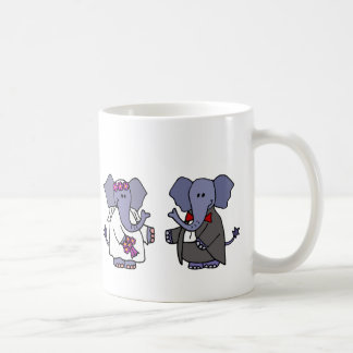 Funny Elephant Bride and Groom Wedding Design Coffee Mug