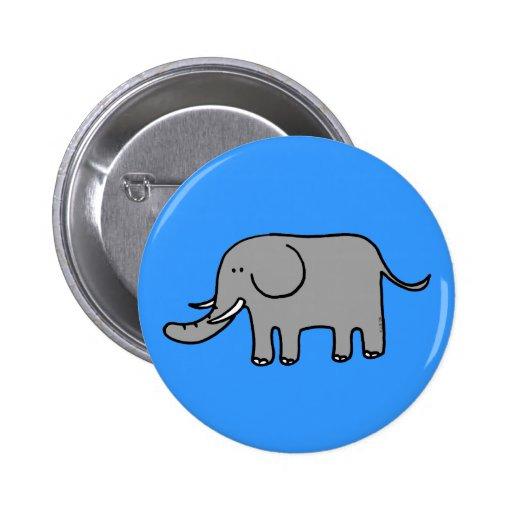 Funny elephant button