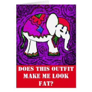 Funny Elephant Card Girlfriend Note Card