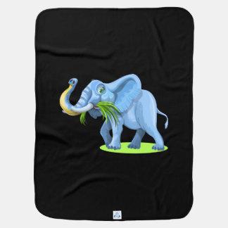 Funny Elephant Cartoon Stroller Blanket