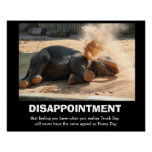 Funny Elephant, DISAPPOINTMENT (not hump day) Posters