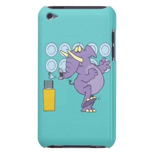 funny elephant in a china shop iPod touch case