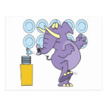 funny elephant in a china shop postcard