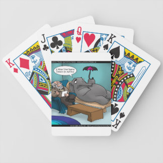 Funny Elephant In Therapy Cards Tees Gifts Etc Bicycle Playing Cards