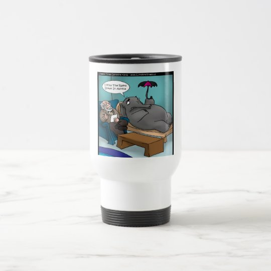 Funny Elephant In Therapy Travel Mug