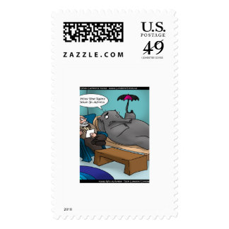 Funny Elephant In Therapy USPS Postage Stamps