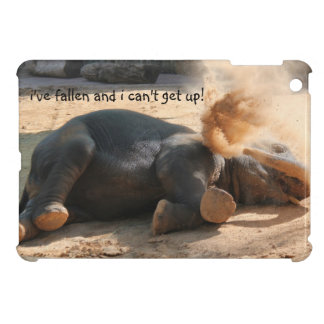 Funny Elephant iPad,  Fallen and i can't get up! Case For The iPad Mini