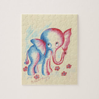 Funny Elephant Jigsaw Puzzle