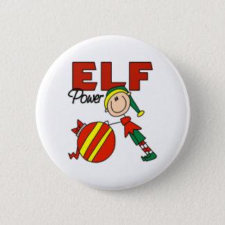 Funny Elf Christmas Gift Button