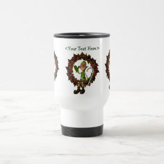 Funny Elf Personalized Christmas Holiday Mug