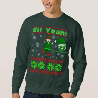 Funny Elf Yeah Christmas Sweatshirt