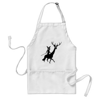 funny elk and bunny icon adult apron