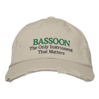 Funny Embroidered Bassoon Music Hat