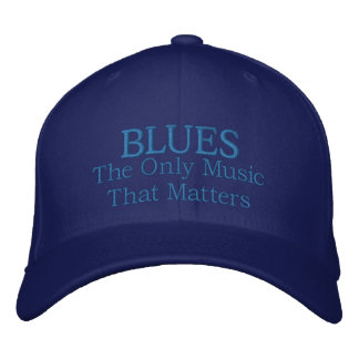 Funny Embroidered Blues Music Cap