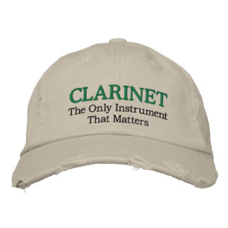 Funny Embroidered Clarinet Music Hat Embroidered Hats