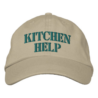 Funny Embroidered Kitchen Help Cap