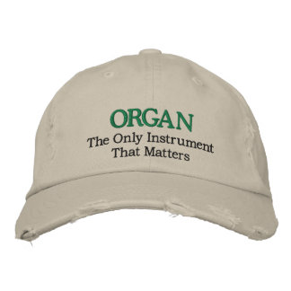 Funny Embroidered Organ Music Hat Embroidered Hats
