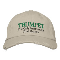 Funny Embroidered Trumpet Music Hat Baseball Cap