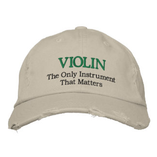 Funny Embroidered Violin Music Hat