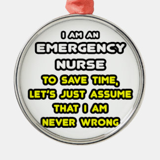 Funny Emergency Nurse T-Shirts and Gifts Ornament