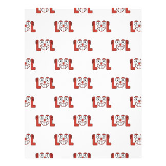 Funny Emoji Laughing Out Loud Pattern Letterhead