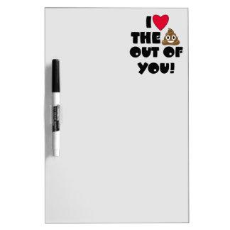 Funny Emoji Love Dry Erase Board