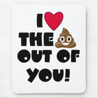 Funny Emoji Love Mouse Pad