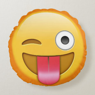 Funny Emoji Throw Pillow