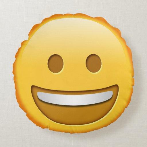 Throw Pillows Elegant : Funny Emoji Throw Pillow Round Pillow Zazzle