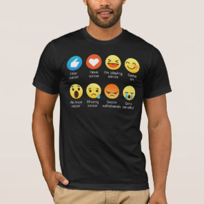 Funny Emoticon (emoji) I Love Soccer T-Shirt