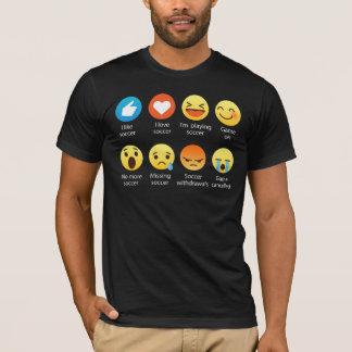 Funny Emoticon (emoji) I Love Soccer T-Shirt
