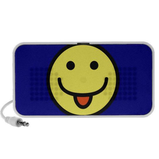 Funny Emoticon Tongue Out Portable Speaker