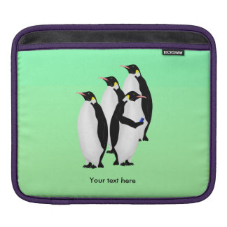 Funny Emperor Penguin On A Mobile Phone Sleeves For iPads