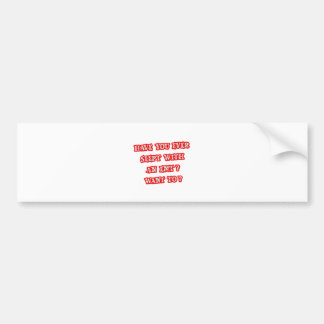 Funny EMT Pick-Up Line Car Bumper Sticker