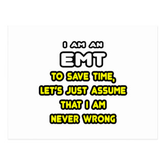 Funny EMT T-Shirts and Gifts Postcards