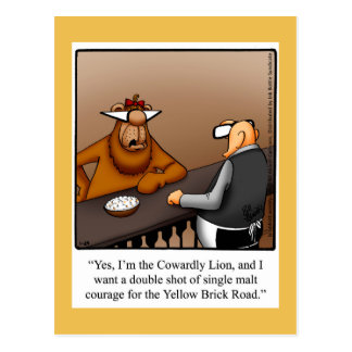 Funny Encouragement Humor Postcard