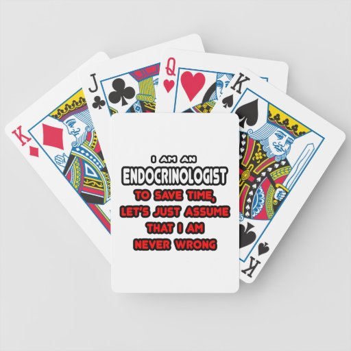 Funny Endocrinologist T-Shirts and Gifts Bicycle Card Deck