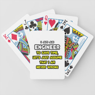 Funny Engineer T-Shirts and Gifts Deck Of Cards