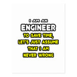 Funny Engineer T-Shirts and Gifts Post Card