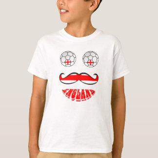 Funny England Soccer Football Face T-Shirt